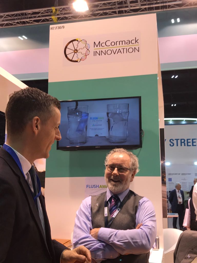 Operations Director describes our product to Lord O'Shaunessy at Arab Health 2018