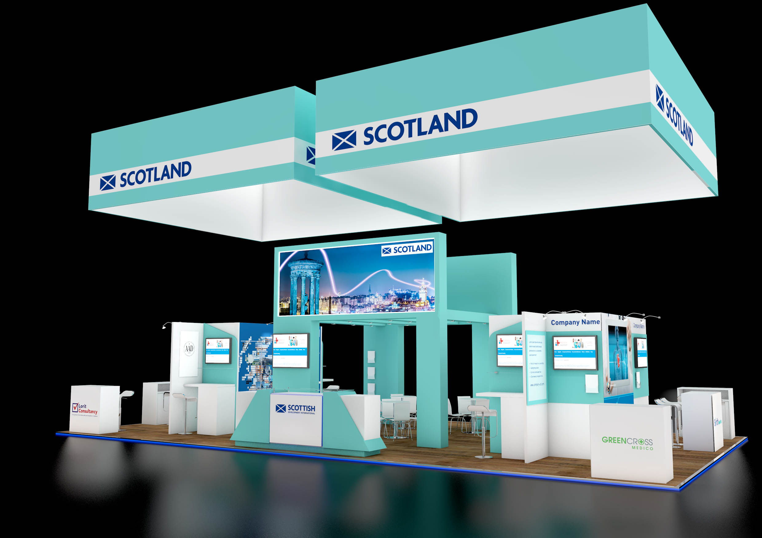 The Scotland stand at Medtec, Dusseldorf. Our base camp for what was a huge exhibition.