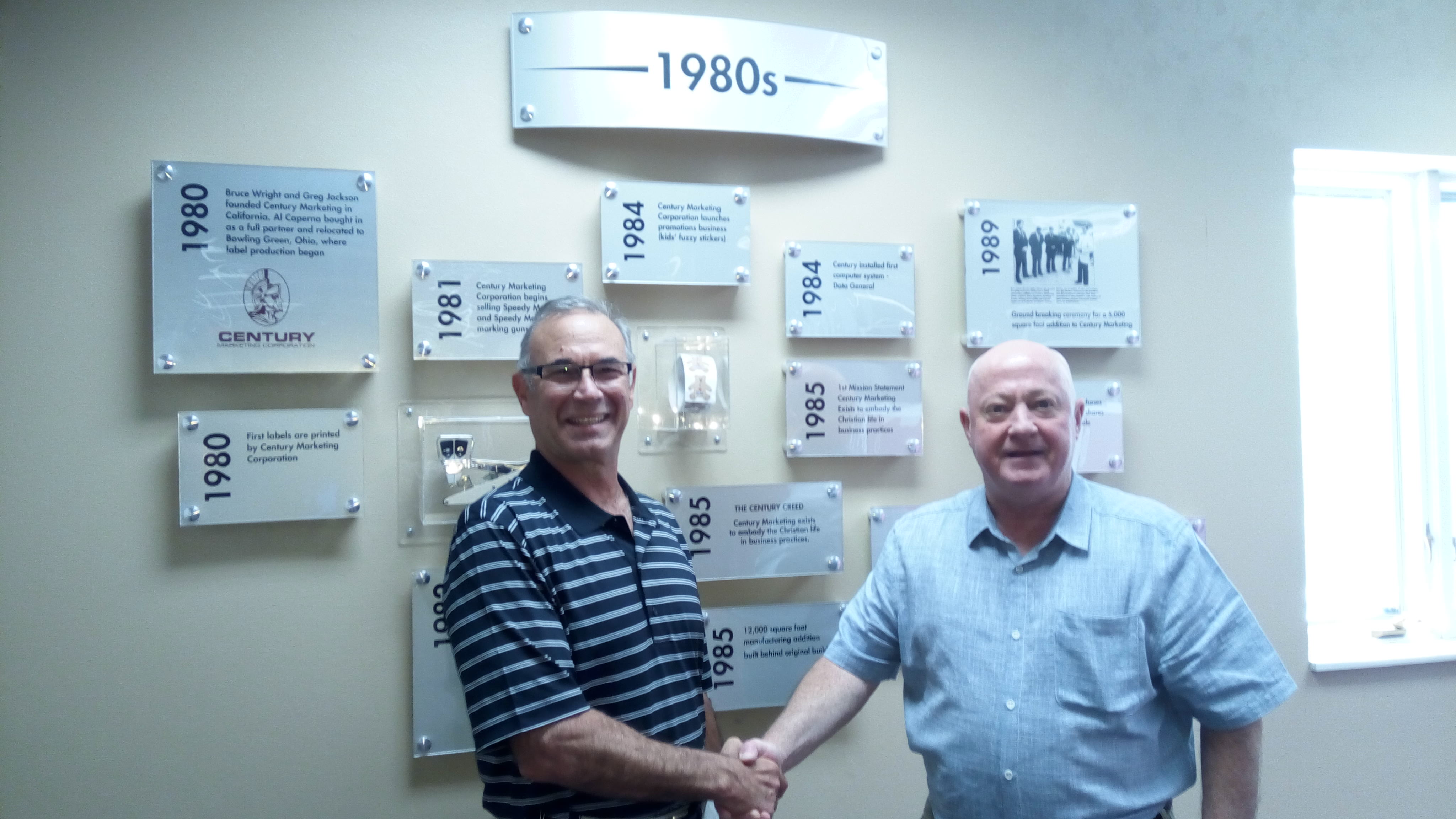 Brian and Al Caperna after a succesful visit to CMS Group, Ohio