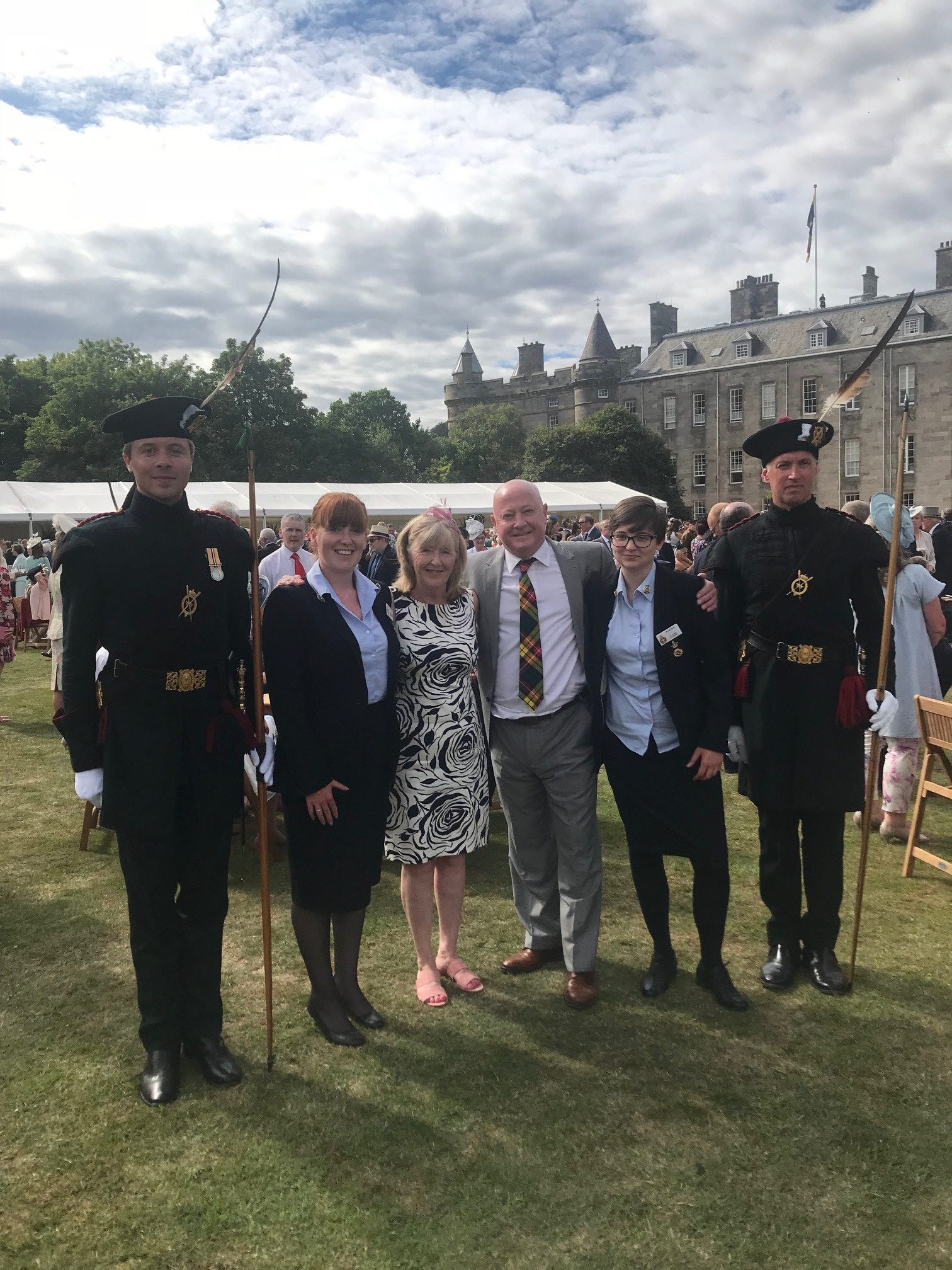 July 2018; In recognition of his work, Brian and his wife, Iris attended the Queen's Garden Party at Holyrood