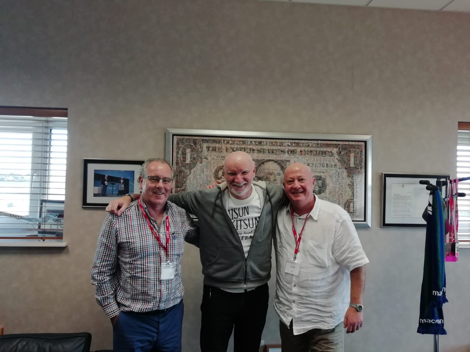 Brian and Garry had the pleasure of meeting  Sir Tom Hunter for further discussions on business development.